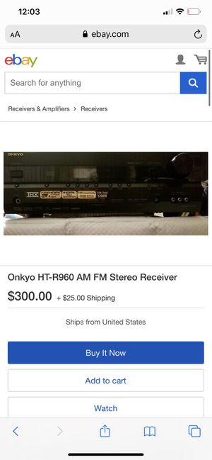 ONKYO x THX 7.1 receiver ( ht-r960) for Sale in Kingsburg, CA