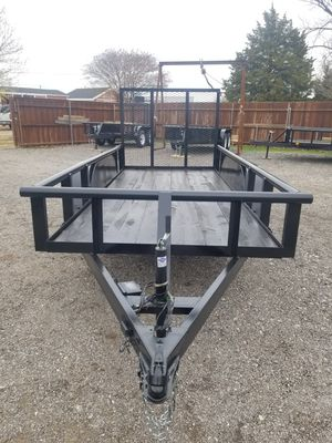 New 2020 Pipetop Tandem Trailer with brakes and 4ft tailgate for Sale in Wylie, TX