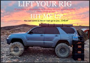 Any & All Suspension Parts & Lift / Leveling Kit's Installed for Sale in Inglewood, CA