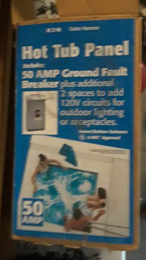 Hot tub panel 50 amp ground fault breaker for Sale in Chandler, AZ