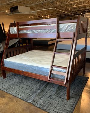 Twin over full bunk bed with mattress and free delivery for Sale in Mesquite, TX