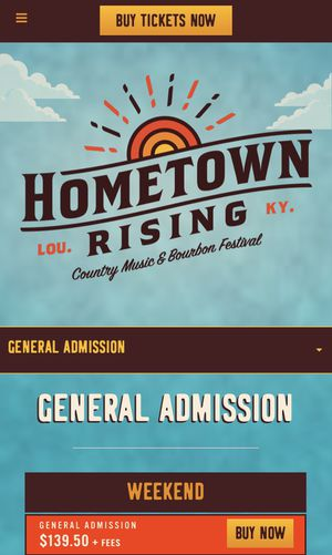 Hometown Rising Tickets for Sale in Nicholasville, KY