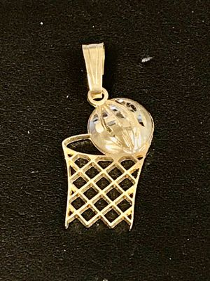 Gold basketball charm pendant for Sale in Riverview, MI