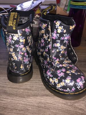 Doc Marten Floral Little Girl Boots for Sale in Yakima, WA