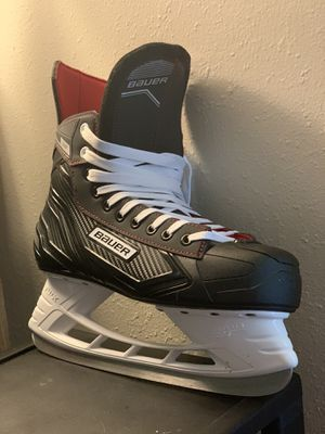 Brand new never worn size 10 hockey skates and hockey stick for Sale in Anchorage, AK
