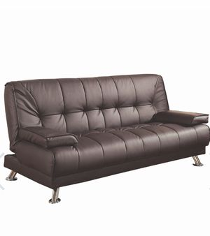 Brown faux leather futon for Sale in Las Vegas, NV