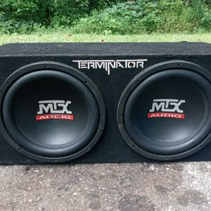 MTX audio speakers two 12s for Sale in Lithonia, GA