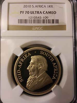 1 Oz Gold 2010 S Africa 1KR NGC Graded PF 70 ULTRA CAMEO for Sale in Chicago, IL