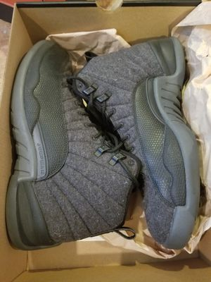 Nike air jordan 12s wool size 9.5 for Sale in UPPR MARLBORO, MD
