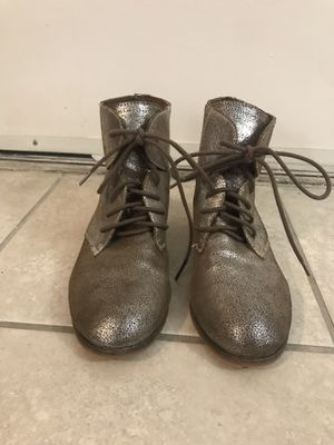 Urban Outfitters Silver Metallic Combat Boots for Sale in Atlanta, GA