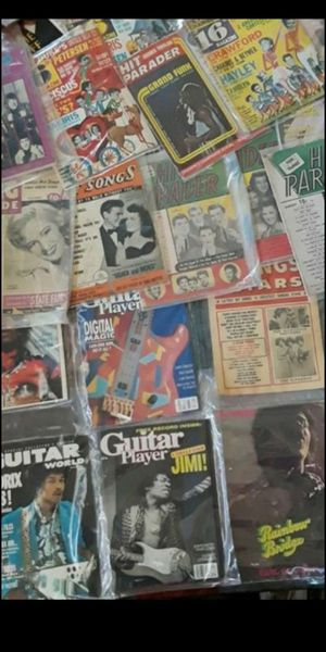 40 Vintage 50's 60's 70's 80'S Music Related Magazine's & more for Sale in San Bernardino, CA