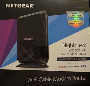 New Netgear Nighthawk AC1900 WiFi Cable Modem Router for Sale in Eddystone, PA