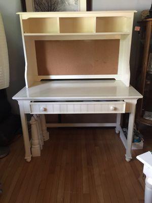VCF 2/ piece Desk w hutch type top / Cork-board Chair for Sale in Midlothian, VA