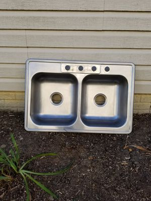 Stainless Steel Double Kitchen Sink for Sale in Pataskala, OH