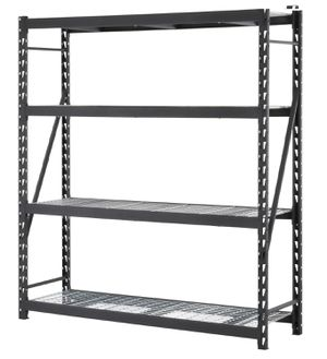 """Edsal Muscle Rack Welded Storage Rack with 4 Shelves, 1500 lb. Capacity, 77"""" Wide x 72"""" High x 24"""" Deep, Black for Sale in Miami, FL"""