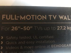 Full Motion TV Wall Mount (FIRM PRICE) for Sale in Austin, TX