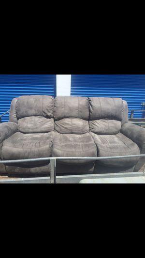 Gray Double Reclining Sofa-Ashley Furniture for Sale in Brandon, FL
