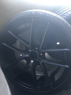 2 RIMS W/ TIRES ONLY NICHE® - M130 TARGA Black with Machined Face and Double Dark Tint for Sale in Hillsboro,  OR
