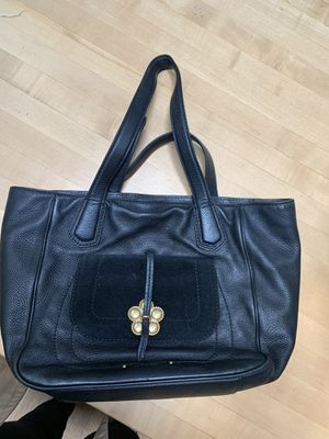 Marc Jacobs black leather tote - gently loved for Sale in Boston, MA