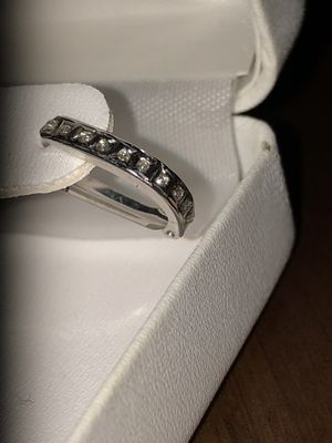 14kt Solid White Gold Diamond Accent $450 Value Hoop Huggies Earrings for Sale in Raleigh, NC