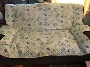 Beach theme loveseat cover for Sale in Morrisville, PA