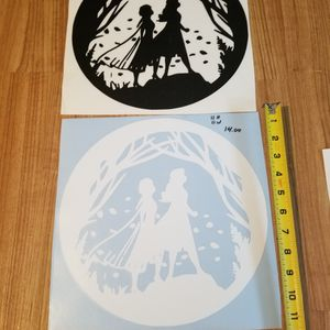 Disney's frozen Decal White And Black Set Of 2 for Sale in Burlington, KY
