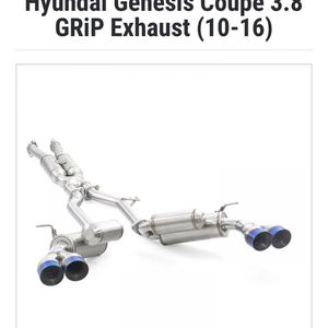 ARK Grip Exhaust for Hyundai Genesis Coupe 3.8 2013+ for Sale in Riverside, CA