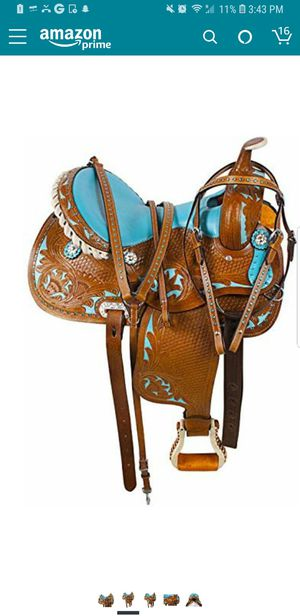 New Acerugs 16 leather saddle for Sale in Derby, KS