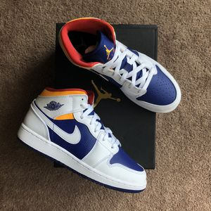 Jordan 1 Mid 'White Deep Royal' (GS 6 / W 7.5) for Sale in Culver City, CA