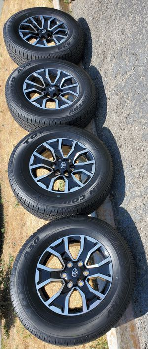 """17"""" STOCK 2020 TACOMA PRERUNNER TRD NEW RIMS AND TOYO TIRES for Sale in Colton, CA"""