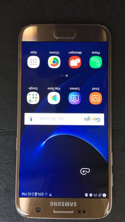 Samsung galaxy S7 32 GB Verizon carrier gold mint condition for Sale in Traverse City,  MI