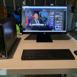 Dell Computer & HP Monitor and Wireless Keybord for Sale in Chula Vista, CA