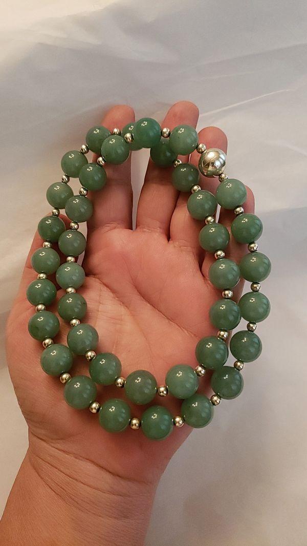 Genuine Jade & Sterling silver