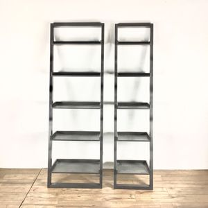 Two Crate & Barrel Contemporary Five Tier Open 'ladder' Bookshelves (1021233) for Sale in South San Francisco, CA