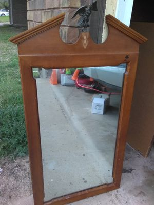 Vintage mirror. Heavy wood. for Sale in Fort Worth, TX