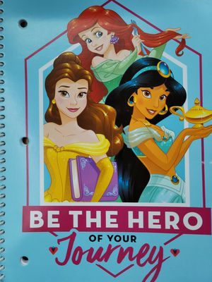 (2) Disney Princess be the hero of your own journey spiral notebook for Sale in Fort Worth, TX