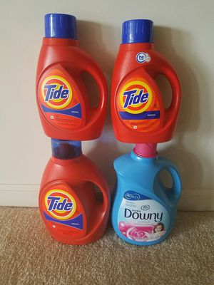 Tide and Downy laundry detergent bundle $30 price firm for Sale in Rockville, MD