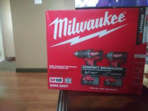 Milwaukee drill and impact set for Sale in Detroit, MI