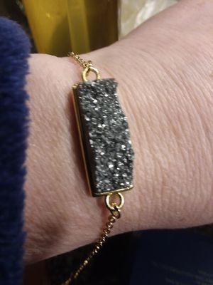 14k over silver druzy quartz bracelet for Sale in Modesto, CA