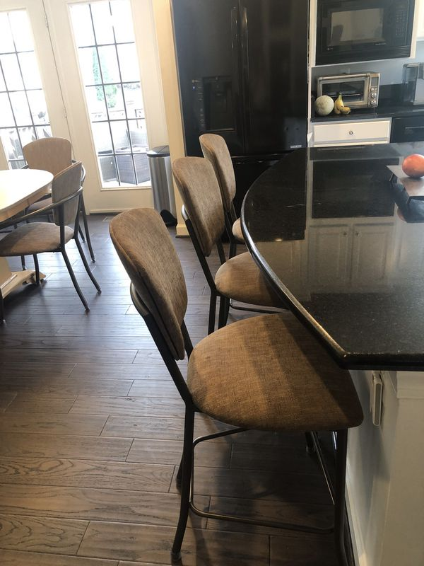 Dining Table, Chairs & Stools- Solid Corian & Maple!