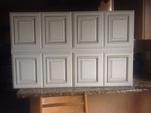 Kitchen cabinets honey maple 4unit new never used ask for$450 for Sale in Detroit, MI