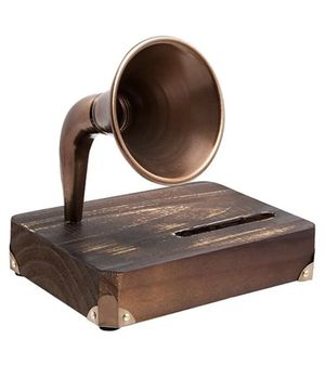 Share Save Studio Mercantile Wooden Phone Amplifier for Sale in Houston, TX