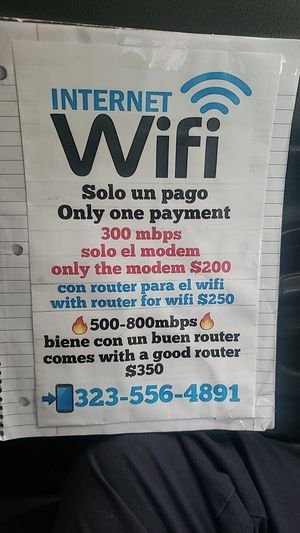 I38393 Bought this modem with great Internet super fast wifi its in excellent condition for Sale in Los Angeles, CA