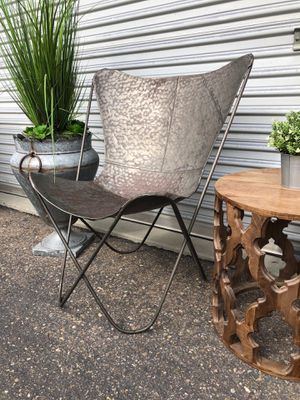 Aluminum Butterfly accent chair hammered metal for Sale in San Diego, CA