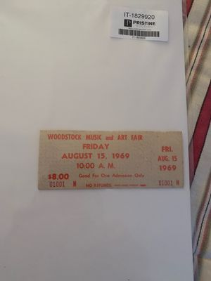Rare unused Woodstock ticket OBO for Sale in Kansas City, MO