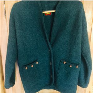 Classic heavy forest green cardigan for Sale in Salt Lake City, UT