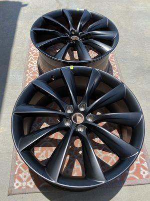 """Tesla Model X 22"""" x 10"""" Rear Turbine Wheel Rim (Black) Brand New OEM(Single price) for Sale in Corona, CA"""