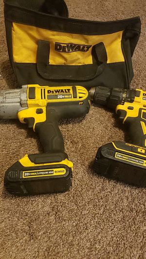 Dewalt 20v 1/2 impact wrench and drill for Sale in Tacoma, WA