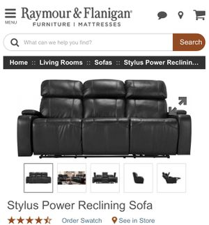 $800 Discount on Stylus Reclining Sofa / Raymour Flanigan for Sale in Silver Spring, MD