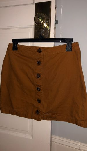 Burnt Orange Button Down Mini Skirt for Sale in Adamstown, MD